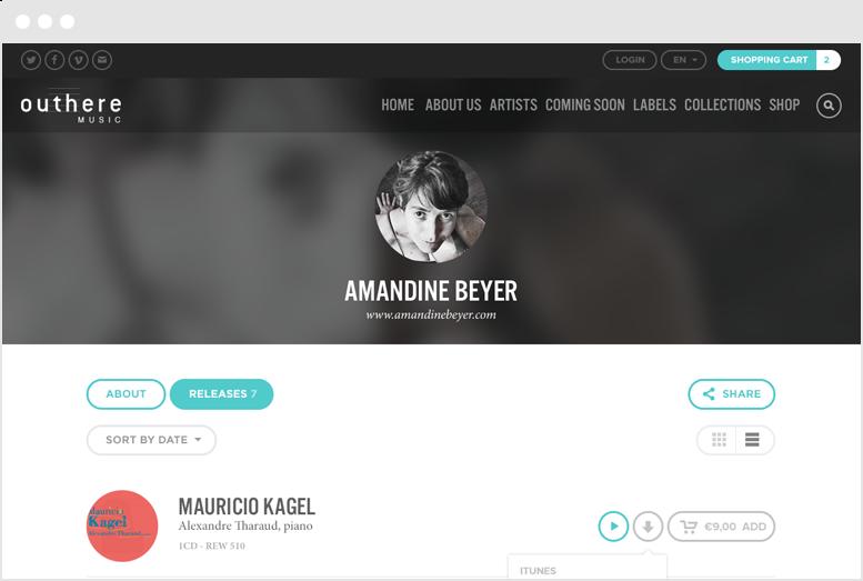 Outhere Music - Desktop screenshot
